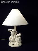 S335 Régi jelzett art deco kerámia asztali lámpa