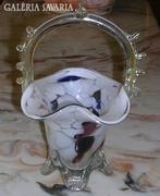 Díszes,mintás, kecses üveg kosár