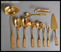 Kuriózum Antik 24 karátos arany evőeszköz 12 szem.PUR LUXUS