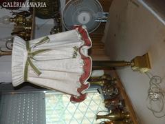 Sárgaréz ernyős asztali lámpa 82 cm