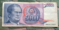 5000  Jugoszláv Dínár