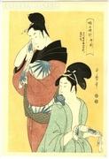 Kitagawa Utamaro 5 db japán fametszet, teljes sorozat