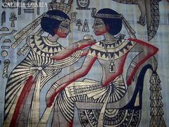 Egyiptomi képek papíruszon (keretezhető)  3 db