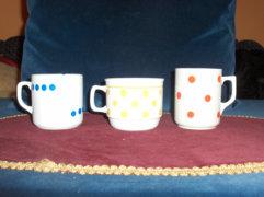 Zsolnay pöttyes csésze - 2db - együtt eladó