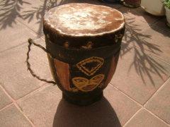 Antik egyedi készítésű keleti sámán dob