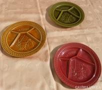 Sarreguemines porcelán : Osztott kínáló tálak 3db