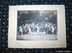 Antik esküvői csoport kép - 1927