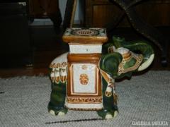 Kerámia elefánt telefon vagy virágtartó állvány
