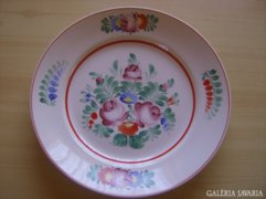 Hollóházi porcelán fali tányér kézzel festett