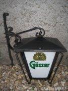 Gösser kovácsoltvas kültéri lámpa 37 x 35 cm.