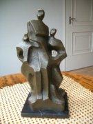 Bronz szobor, modern, jelzett