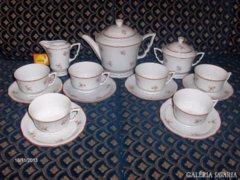 Antik, pajzspecsétes Zsolnay teáskészlet - komplett