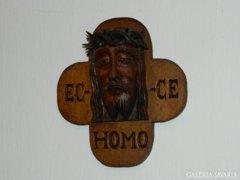 Antik fali Jézus brüszt - fafaragás
