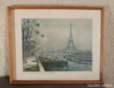3585 Maurice Legendre régi párizsi olajnyomat