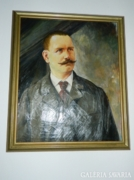 Biedermeier olaj / vászon festmény : Portré
