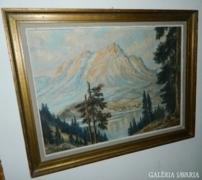 Óriási kvalitásos -jelzett- olaj/vászon festmény