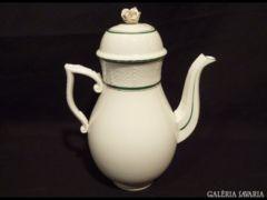1349 K2 Nagyméretű herendi kávéskanna zöld fehér