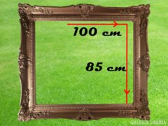 1823 T4 Hatalmas antik blondel képkeret 100x85cm