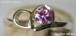 Art Deco Stílusú Ezüst Gyűrű Rózsaszín Ékkővel