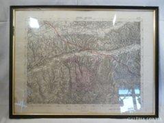 Y512 T3 Antik régi térkép Nyárádtő und Nagy-kend