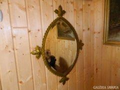 Nem semmi antik kovácsoltvas keretes fazettás tükör