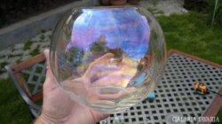 Irizáló gömb váza