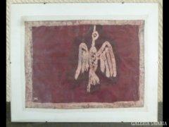 1716 T2 Jelzett művészi batikolt kép