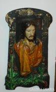 Jézus fali relief - 150 éves papírmasé