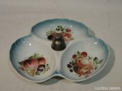 3791 Régi asztali gyümölcskínáló porcelán
