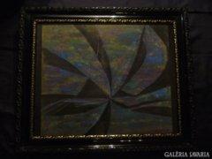 Sergio Valmir Bosa: RAINBOW SPIRAL 69 X 58 cm