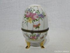 6130 Nagyméretű porcelán Limoges tojás bonbonier