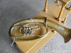 Sárgaréz Monarchiás trombita (80cm) Alkudható!
