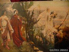 Régi képeslap Dante és Matilda