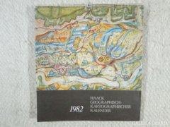 8295 1982-es falinaptár antik térkép másolatokkal