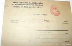 Levél 1936 Zsámbok 1936