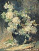 Piroska János : Virágok vázában 1967