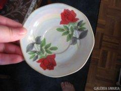 Rózsás irizáló porcelán tányérka