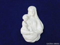 8141 Műgyanta fali dísz Mária gyermekével 24,5 cm