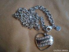 GUESS 925 -ös jelzésű SZIVES nyaklánc