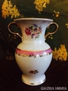 Nagyon Helyes Virágos Porcelain Moschendorf Váza