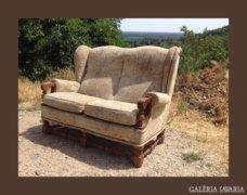 Kis méretű,antik jellegű füles kanapé,szófa