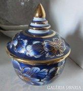 Aranyozott porcelán ékszertartó