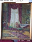 Festmény Gimes Lajos Zongora