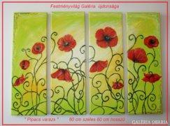 PIPACS VARÁZS-Eredeti festmény 80 cm x 60 cm  Ingyen posta !