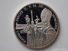 1991 PP Pápa látogatás ezüst 500 forint UNC 01.