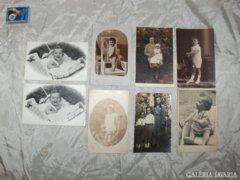Régi baba és gyermek fotó - nyolc darab