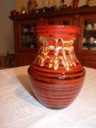 Csíkos retro kerámia váza