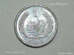1 Fen - Kína - 1987.