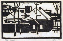 """Magyar művész : """"Téli reggel"""" 1970"""