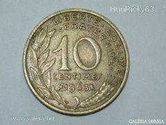 10 Centimes - Franciaország - 1963.
